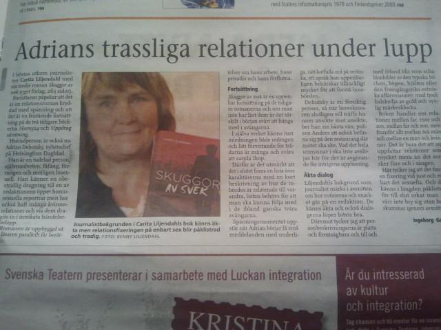 Borgåbladet hade en recension av min bok i dag.
