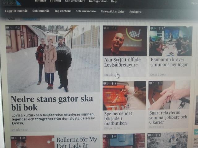 Östra Nylands ganska nya webbsajt.