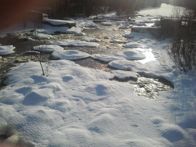 Ögonblicksbild från Forsby å.