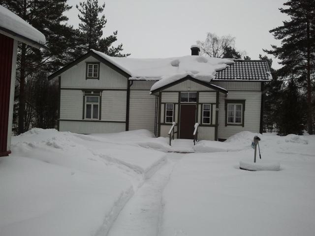 Så här mycket snö hade vi söndagen den 17 februari.