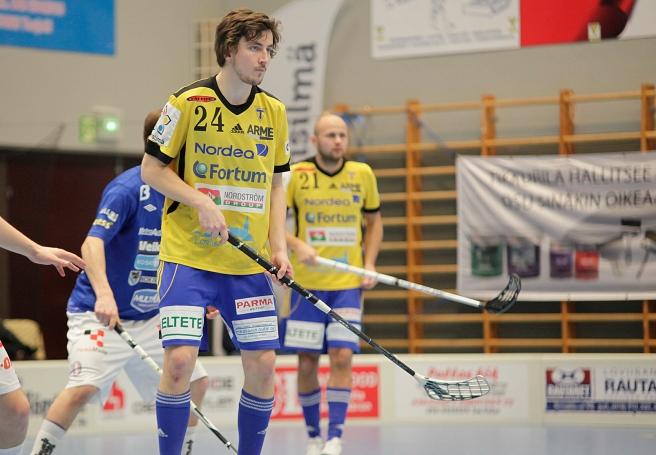 Niklas Niiranen och Juha Kivilehto från Tor representerar Finland i landskampen i kväll. Foto: Benny Liljendahl.
