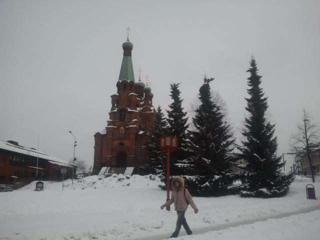 Ortodoxa kyrkan i Tammerfors.