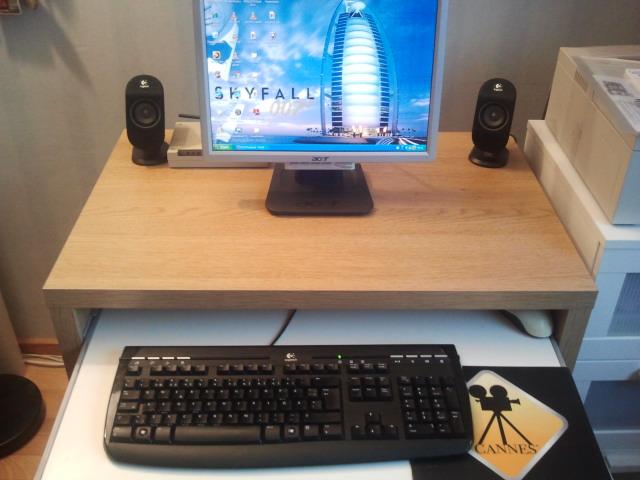 Sällan är det så här tomt på mitt arbetsbord.