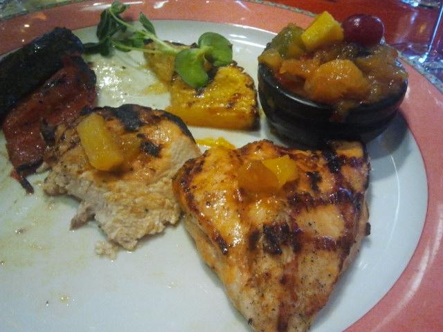 Kycklingfilé med salsa, en av mina favoriter på Hotel Degerby.