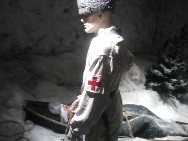 Första hjälp och sjukvård under kriget fanns dokumenterad bland mycket, mycket annat intressant på museet.