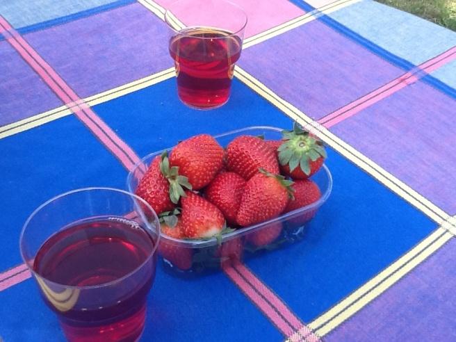 Vad svalkar bättre än ett glas Carillo i sommarvärmen? Några jordgubbar till sitter som pricken på bokstaven i.