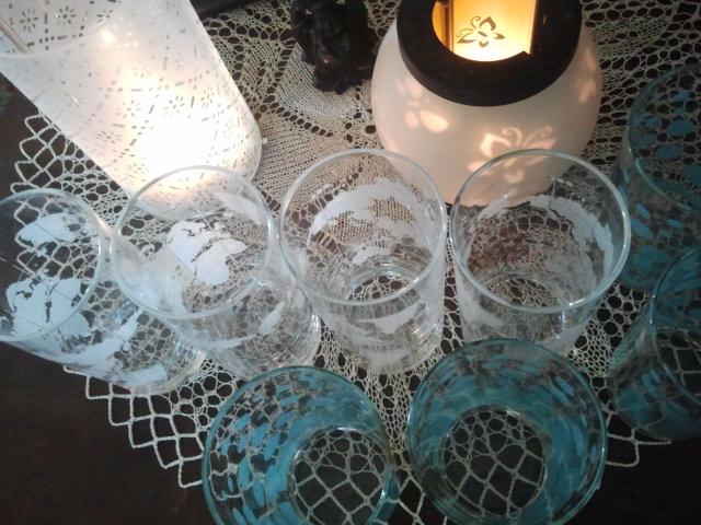 Glasen i väntan på gästerna.
