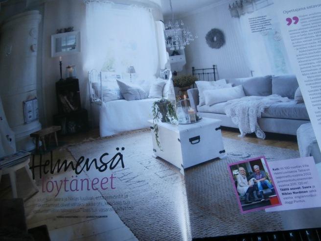 Septembernumret av Unelmien Talo & Koti skriver om Saara och Niklas Nordman i Lovisa.