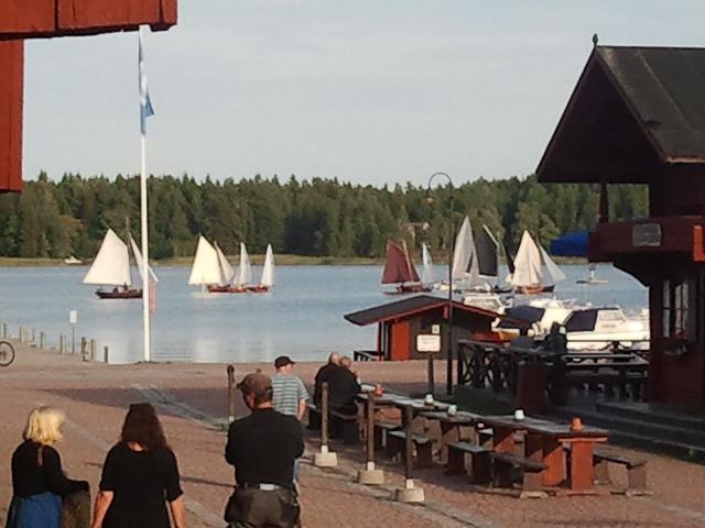 Tror det här är årets sista deltävling i seglingstävlingen Saltkoppen.