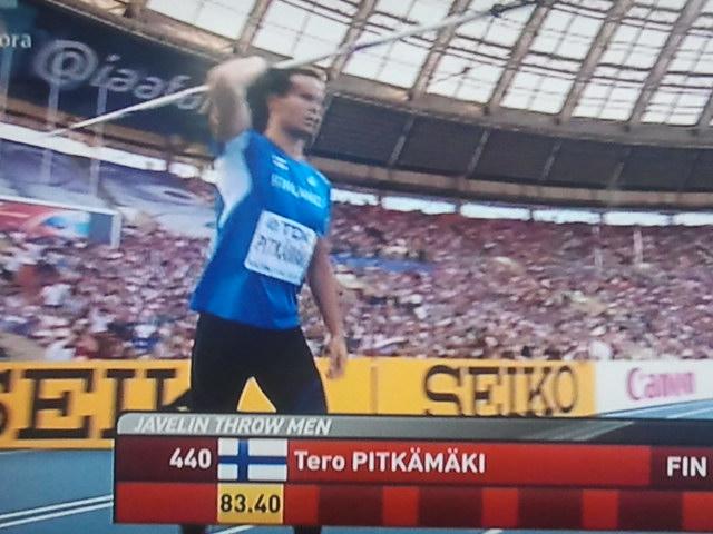 VM-silver för Tero Pitkämäki.