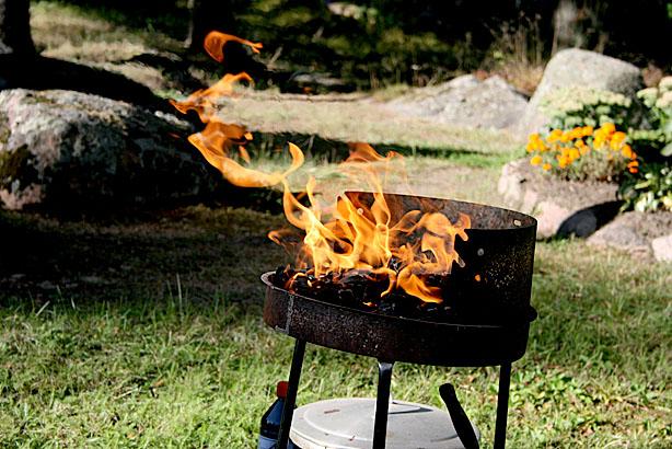 Elden är fascinerande men också ett farligt element. Den här var under kontroll och förvandlades fort till grillkol.