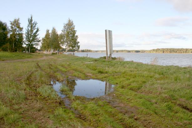 Udden i sin helhet har inte alltid funnits här. Området fylldes ut då sågen byggdes.