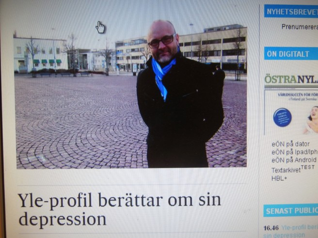 Tapio Suominen, känd sportkommentator i Finland, talar öppet om sin depression.