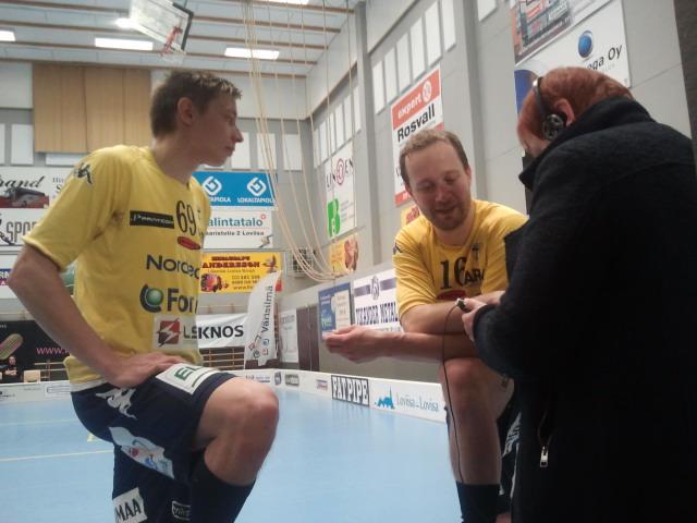 Efter matchen intervjuade min kollega Eivor Lindholm från Radio Vega två av Tors spelare - Dan Forsström och Joni Niiranen.
