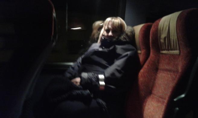 Med lokalbussen Valkom-Lovisa på väg mot centrum. Vi var de två enda passagerna på den här turen.