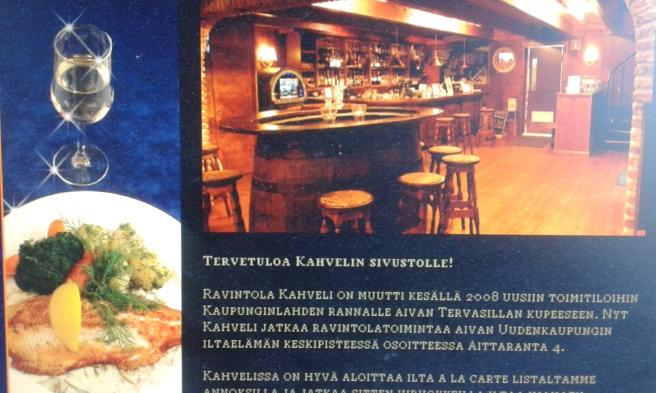 Tanken är att vi i dag ska äta här (inte vid bardisken dock) - för att fira en god vän som fyllde 50 år i november.