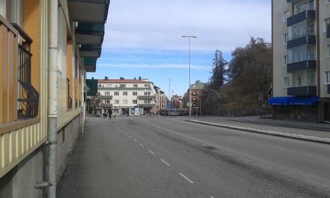En gata vi ofta går längs då vi tar oss in till centrum av Eskilstuna, eller till tåget.