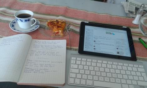 Så här såg det ut när jag jobbade, och jag tog en pajbit till lunch.