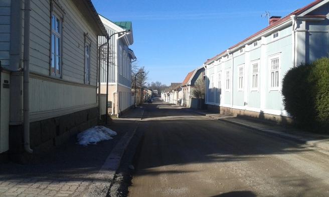 Många fina gamla hus kantar Trädgårdsgatan.