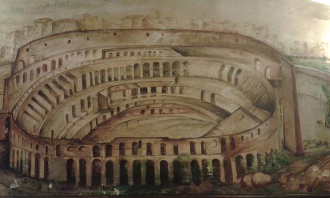 Fin väggmålning i Grotta Azzurra, Via Palestro 93, Roma.