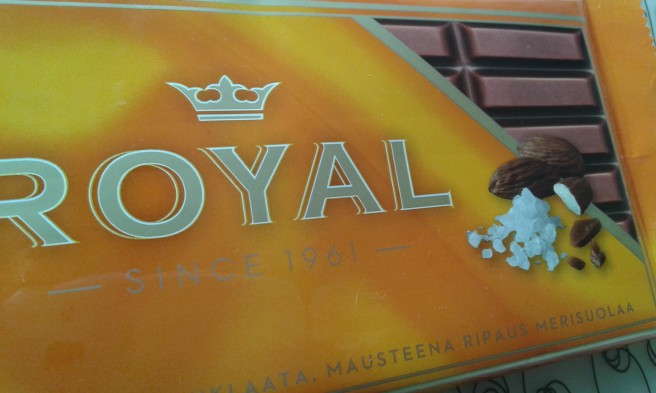 Uppmuntran från en vän, ett paket Royal, salt choklad <3