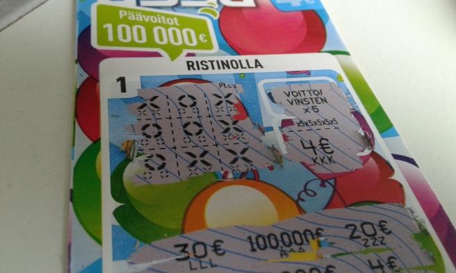 Vann 20 euro på den här Ässä-lotten.