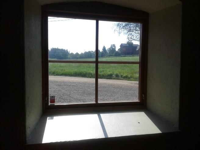 Från bryggeriets fönster har man den här utsikten.