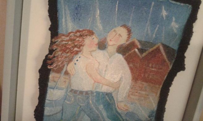 Detaljstudie av en tavla vi fick då vi hade varit tio år gifta.