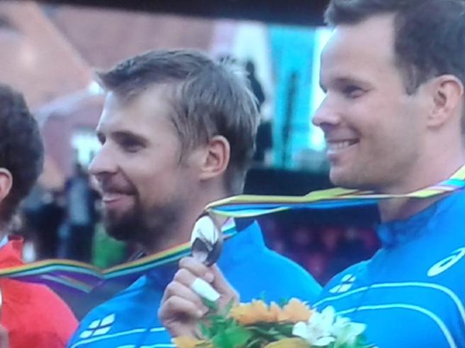Antti Ruuskanen guld, Tero Pitkämäki brons.