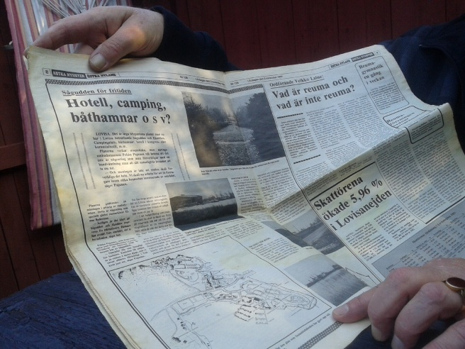 Tidning från 3 november 1984.