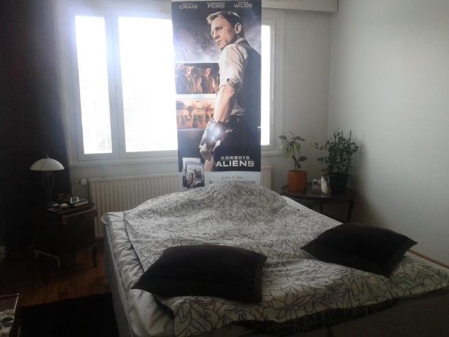 Nu har han invaderat mitt sovrum, Daniel Craig.
