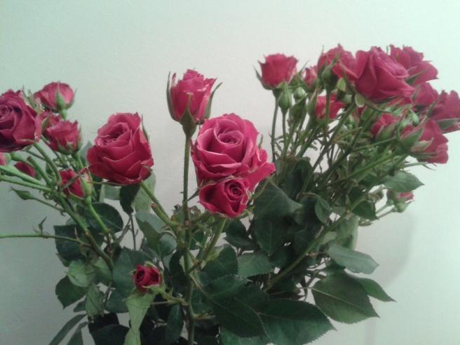 De här fina blommorna hämtade mina gäster till festen.