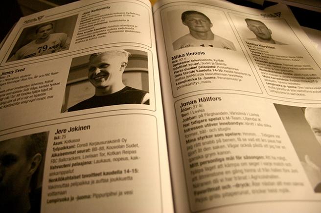 Programblad för Lovisa Tors innebandy.