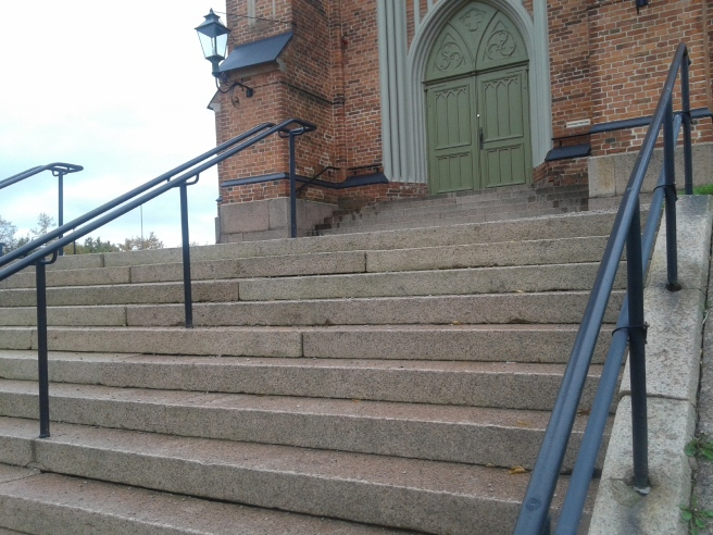 Trapporna till Lovisa kyrka.