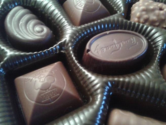 Fazers choklad, med några nya smaker i lådan.