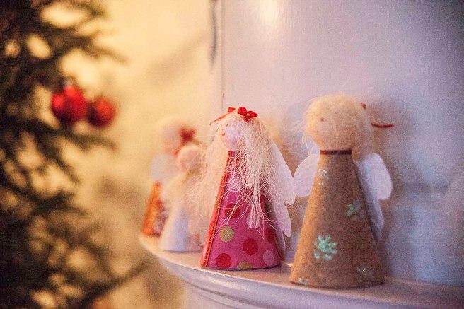 På spiselkransen i julhemmet Helgas.