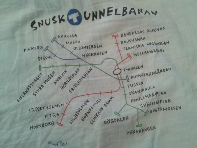 Jag bara älskar de här annorlunda namnen på T-banestationerna i Stockholm.