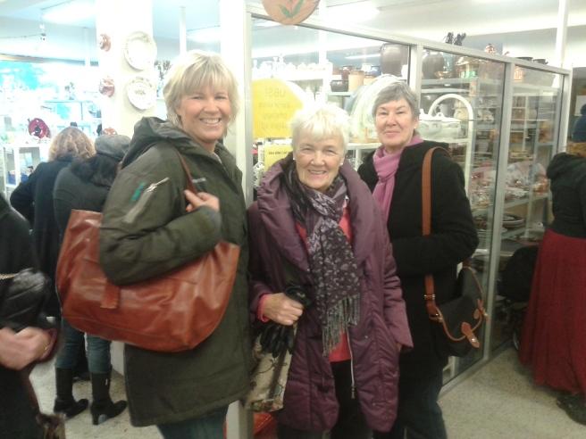 Mina kära vänner - Camilla, Ingemay och FasterAster, som på riktigt heter Ingegerd.