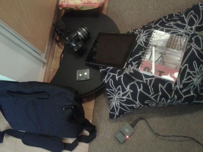 En del av sakerna jag ska ha med på resan i morgon.