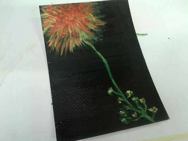 En färgglad blomma :-)