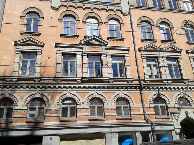 En av fasaderna på Elisabetsgatan.