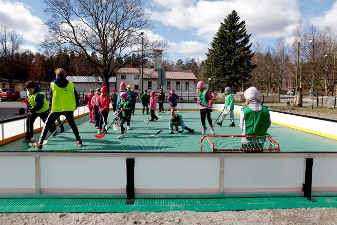 Eleverna i Kapellby skola gillar att röra på sig och vara ute.