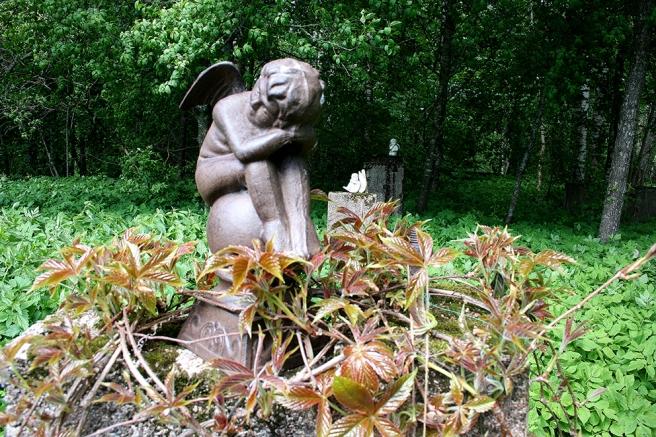 Av den gamla handelsträdgårdens växthus finns bara stenfötter kvar. Men de omges av vacker grönska och prydnader. Fågelsången är också underbar här intill skogen, humlor surrar och fjärilar fladdrar omkring.