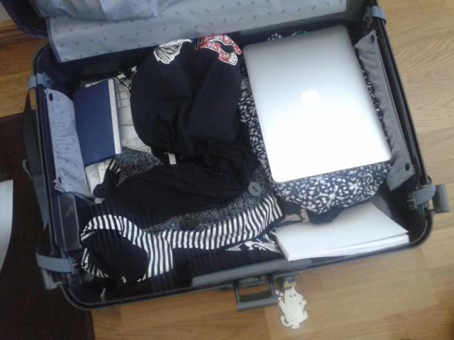 Packning pågår.