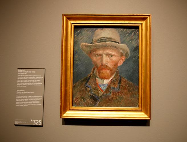 Självporträtt av Vincent van Gogh.