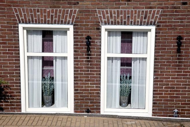 Sista fönsterparet ut från Volendam i Nederländerna.