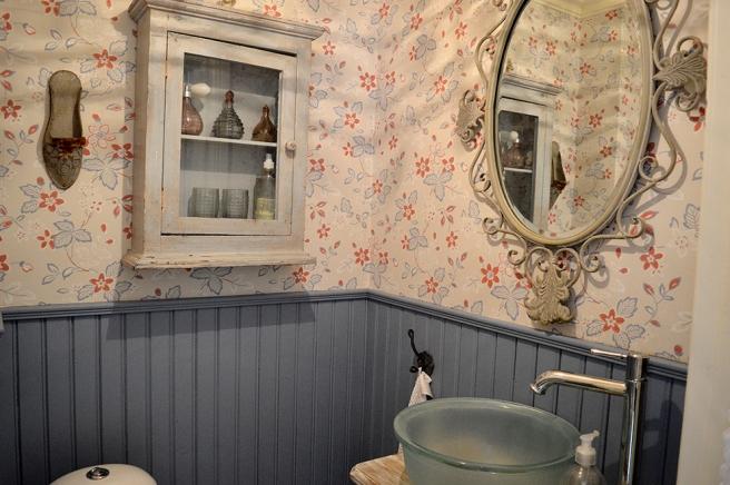 En del av toaletten.