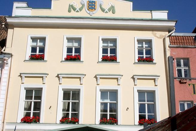 En av fasaderna vid rådhustorget.