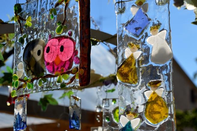 Vackra glasarbeten på producentmarknaden.