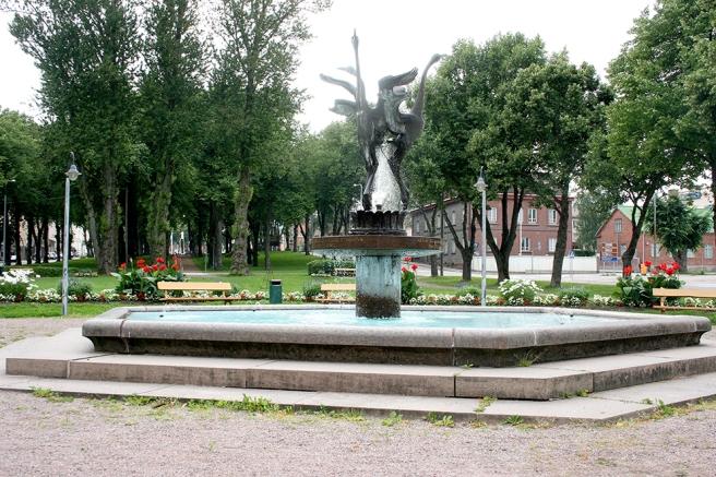 Tranbrunnsparkens fina fontän.